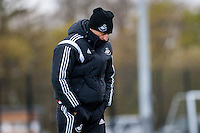 Wednesday  27 April 2016<br /> Pictured: Francesco Guidolin, Manager of Swansea City  during training <br /> Re: Swansea City Training Session at the Fairwood Ground, Swansea, Wales, UK