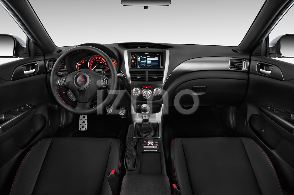 Straight dashboard view of a 2013 Subaru WRX STI Sedan2013 Subaru WRX STI Sedan
