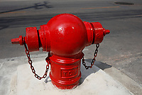 Red fire hydrant in in Bangkok Thailand