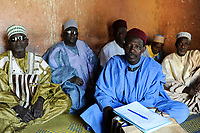 NIGER , Zinder, palace of Sultan of DAMAGARAM<br /> El Hadji ABOUBACAR OUMAROU SANDA , islamic court, judges