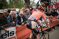 Jonas Koch (DEU/CCC) finishing and showing what remains of his bibs after an earlier crash<br /> <br /> 83rd La Flèche Wallonne 2019 (1.UWT)<br /> One day race from Ans to Mur de Huy (BEL/195km)<br /> <br /> ©kramon