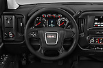 Car pictures of steering wheel view of a 2018 GMC Sierra-2500HD 2WD-Double-Cab-Long-Box 4 Door Pick-up Steering Wheel