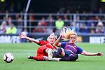 UEFA Women's Champions League 2018/2019.<br /> Semi Finals<br /> FC Barcelona vs FC Bayern Munchen: 1-0.<br /> Dominika Skorvankova vs Kheira Hamraoui.