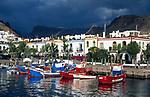 Spanien, Kanarische Inseln, Gran Canaria, Puerto de Mogan: moderner Ort im afrikanischen Stil gebaut | Spain, Canary Islands, Gran Canaria, Puerto de Mogan: modern village, African style