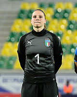 20180307 - LARNACA , CYPRUS : Italian Laura Giuliani pictured during a women's soccer game between Italy and Spain , on wednesday 7 March 2018 at the AEK Arena in Larnaca , Cyprus . This is the final game for the first place  for  Italy and  Spain on the Cyprus Womens Cup , a prestigious women soccer tournament as a preparation on the World Cup 2019 qualification duels. PHOTO SPORTPIX.BE | DAVID CATRY