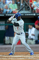Las Vegas 51s shortstop Adeiny Hechavarria #2 during the Triple-A All-Star game featuring the Pacific Coast League and International League top players at Coca-Cola Field on July 11, 2012 in Buffalo, New York.  PCL defeated the IL 3-0.  (Mike Janes/Four Seam Images)