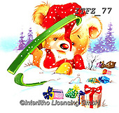 Fabrizio, Comics, CHRISTMAS ANIMALS, WEIHNACHTEN TIERE, NAVIDAD ANIMALES, paintings+++++,ITFZ77,#xa#