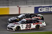 #20: Harrison Burton, Joe Gibbs Racing, Toyota Supra Dex Imaging, #52: J.J. Yeley, Means Motorsports, Chevrolet Camaro