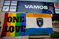 SAN JOSE, CA - SEPTEMBER 13: Earthquakes Stadium during a game between Los Angeles Galaxy and San Jose Earthquakes at Earthquakes Stadium on September 13, 2020 in San Jose, California.