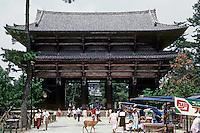 Nara: Great South Gate Todai Temple. Rebuilt during Kamakura period 1192-1333. Photo '81.
