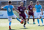 Forfar v St Johnstone…28.07.18…  Station Park    Betfred Cup<br />David Wotherspoon is tackled by Tom Reilly<br />Picture by Graeme Hart. <br />Copyright Perthshire Picture Agency<br />Tel: 01738 623350  Mobile: 07990 594431