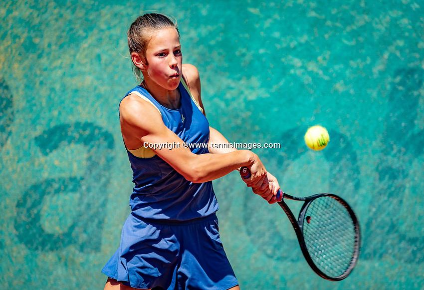 Hilversum, Netherlands, August 6, 2018, National Junior Championships, NJK, Veerle Tibben (NED)<br /> Photo: Tennisimages/Henk Koster