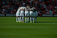 Sun 06 October 2013 Pictured: Swansea Pre-Match Huddle Re: Barclays Premier League Southampton FC  v Swansea City FC  at St.Mary's Stadium, Southampton