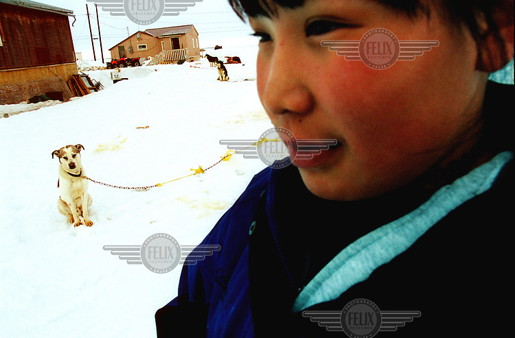 ©ÊKaren Robinson / Panos Pictures..Alaska, USA. 05/2001...Shishmaref, Western Alaska.