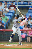 Trenton Thunder designated hitter Juan Silva (9) during a game against the Binghamton Mets on May 29, 2016 at NYSEG Stadium in Binghamton, New York.  Trenton defeated Binghamton 2-0.  (Mike Janes/Four Seam Images)