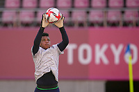 KASHIMA, JAPAN - AUGUST 4: Adrianna Franch #18 of the United States before a game between Australia and USWNT at Kashima Soccer Stadium on August 4, 2021 in Kashima, Japan.