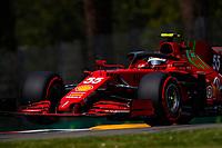 17th April 2021; Autodromo Enzo and Dino Ferrari, Imola, Italy; F1 Grand Prix of Emilia Romagna, Qualifying sessions;  55 SAINZ Carlos spa, Scuderia Ferrari SF21