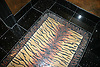 Custom Tiger Skin Rug in Nero Marquina, Renaissance Bronze, Giallo Reale, Breccia Pernice, Rosa Verona, Aegean Brown polished