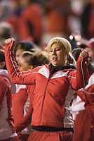 23 December 2006: Utah band and drill team members celebrate the Ute's last touchdown during the 2006 Bell Helicopters Armed Forces Bowl between The University of Tulsa and The University of Utah at Amon G. Carter Stadium in Fort Worth, TX.