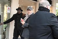 Dany BOON ( Daniel Hamidou ) arrive au studio Gabriel pour l'enregistrement de Vivement Dimanche TF1 - 18 janvier 2017 - Paris - France