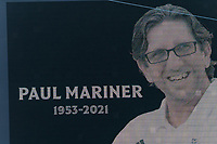 FOXBOROUGH, MA - JULY 25: Paul Mariner tribute during a game between CF Montreal and New England Revolution at Gillette Stadium on July 25, 2021 in Foxborough, Massachusetts.