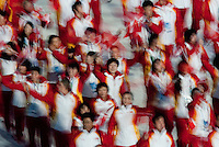 Vancouver, British Columbia, Canada--Opening Ceremonies of the 2010 Winter Olympic Games, BC Place, Vancouver, Canada.