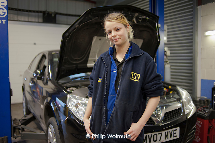23 year-old Motor Vehicle Service and Repair apprentice at Airedale Motors, a business run by social enterprise Chrysalis, Castleford, South Yorkshire. Income from Airedale Computers and Airedale Motors finances Chrysalis's training porgrammes.