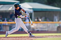 16 July 2017: Vermont Lake Monsters first baseman Aaron Arruda, a 12th round draft pick for the Oakland Athletics, in action against the Auburn Doubledays at Centennial Field in Burlington, Vermont. The Monsters defeated the Doubledays 6-3 in NY Penn League action. Mandatory Credit: Ed Wolfstein Photo *** RAW (NEF) Image File Available ***
