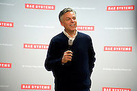 Republican presidential candidate Jon Huntsman speaks at a town hall event at BAE Systems, a defense contractor, in Nashua, New Hampshire, USA. Huntsman has focused his national campaign on New Hampshire. During this speech and question and answer session, Huntsman stressed the importance of manufacturing in maintaining the US's dominance in the global economy and for fostering national security. Huntsman is the former ambassador to China under Obama and former governor of Utah.