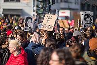 Demonstration zum Internationalen Frauentag am 8. Maerz 2020 in Berlin.<br /> 8.3.2020, Berlin<br /> Copyright: Christian-Ditsch.de<br /> [NUR FUER REDAKTIONELLE ZWECKE! Werbung nur auf Anfrage beim Fotografen. Inhaltsveraendernde Manipulation des Fotos nur nach ausdruecklicher Genehmigung des Fotografen. Vereinbarungen ueber Abtretung von Persoenlichkeitsrechten/Model Release der abgebildeten Person/Personen liegen nicht vor. NO MODEL RELEASE! Don't publish without copyright Christian-Ditsch.de, Veroeffentlichung nur mit Fotografennennung, sowie gegen Honorar, MwSt. und Beleg. Konto: I N G - D i B a, IBAN DE58500105175400192269, BIC INGDDEFFXXX, Kontakt: post@christian-ditsch.de<br /> Bei der Bearbeitung der Dateiinformationen darf die Urheberkennzeichnung in den EXIF- und  IPTC-Daten nicht entfernt werden, diese sind in digitalen Medien nach §95c UrhG rechtlich geschuetzt. Der Urhebervermerk wird gemaess §13 UrhG verlangt.]