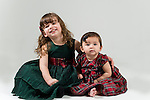WATERBURY, CT- 10 December 2015-121015EC07-  Christmas Kids Metro. Lucy O'Leary, 2, and her sister Charlotte, 7 months, are from Cheshire. Lucy wants bath toys for Christmas. Erin Covey Republican-American