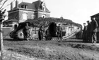BNPS.co.uk (01202) 558833. <br /> Pic: ZeitgeistToursLtd/BNPS<br /> <br /> Pictured: A MK.IV Beutetank in Wavrin, France in April 1918. <br /> <br /> Never-before-seen photos of the first time the Germans used captured British tanks against Allied soldiers have come to light on the 103rd anniversary of the battle. <br /> <br /> The British were the first to invent the tank in 1916 and a year later used them to overwhelm the enemy at the Battle of Cambrai in the First World War.<br /> <br /> Although the battle was a success for the British, the Germans captured several Mark IV tanks.<br /> <br /> Rather than build their own from scratch, the Germans adapted the British ones to suit their needs.