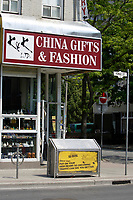 China Gift and Fashion store on Yonge and Maitland street in Toronto.<br /> <br /> Photo : Pierre Roussel - Images Distribution