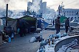 früher Morgen bei den Zelten auf dem Maidan, Protestcamp auf dem Maidan bei eisigen Temperaturen 25.01.2014 / Protestcamp at the Majdan,  very low temperature 25.01.2014