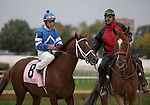 3 October 2009: PUBLIC SPEAKER & jockey Junior Alvarado during the post parade for the 27th running of the G3 Robert F. Carey Memorial Handicap at Hawthorne Race Course in Cicero/Stickney, Illinois.
