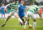 Celtic v St Johnstone…18.02.18…   Celtic Park    SPFL<br />Chris Millar holds of Tom Rogic<br />Picture by Graeme Hart. <br />Copyright Perthshire Picture Agency<br />Tel: 01738 623350  Mobile: 07990 594431