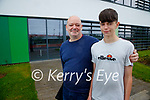 Kevin O'Connor, Caheranne Village, Tralee with Jake O'Connor (15)  pictured after getting his vaccination in Tralee on Tuesday.