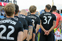 SAN JOSE, CA - AUGUST 24: Florian Jungwirth #23 of the San Jose Earthquakes prior to a Major League Soccer (MLS) match between the San Jose Earthquakes and the Vancouver Whitecaps FC  on August 24, 2019 at Avaya Stadium in San Jose, California.