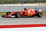 Ferrari driver Sebastian Vettel (5) of Germany in action during qualifying before this weekends Formula 1 United States Grand Prix race at the Circuit of the Americas race track in Austin,Texas.