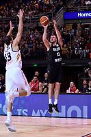 New Zealand Tall Blacks' Tom Vodanovich in action during the the FIBA World Cup Basketball Qualifier - NZ Tall Blacks v Jordan at Horncastle Arena, Christchurch, New Zealand on Thursday 29 November  2018. <br /> Photo by Masanori Udagawa. <br /> www.photowellington.photoshelter.com