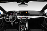Stock photo of straight dashboard view of 2020 Audi A5-Coupe Premium-plus 2 Door Coupe Dashboard
