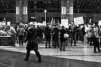 Huge rally in downtown Chicago in which many different unions and their sympathizers gathered together to show support for the struggles of their brothers and sisters in Madison, wisconsin against the union-busting tactics of Wisconsin Governor Scott Walker.