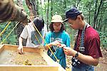 Alaina, Eda & Marty Dudek Sifting Material