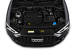 Car Stock 2020 Audi Q3-Sportsback S-Line 5 Door SUV Engine  high angle detail view