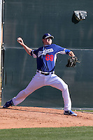 Ross Stripling of the Los Angeles Dodgers participates in the first day of spring training workouts at Camelback Ranch on February 9, 2014 in Glendale, Arizona (Bill Mitchell)