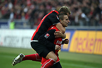 Faton Toski (EIntracht) jubelt ueber sein Tor zum 1:0 mit Marco Russ (Eintracht)<br /> Eintracht Frankfurt vs. VfL Bochum, Commerzbank Arena<br /> *** Local Caption *** Foto ist honorarpflichtig! zzgl. gesetzl. MwSt. Auf Anfrage in hoeherer Qualitaet/Aufloesung. Belegexemplar an: Marc Schueler, Am Ziegelfalltor 4, 64625 Bensheim, Tel. +49 (0) 6251 86 96 134, www.gameday-mediaservices.de. Email: marc.schueler@gameday-mediaservices.de, Bankverbindung: Volksbank Bergstrasse, Kto.: 151297, BLZ: 50960101