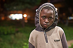 Iaasac Mutinda, a 13 year old street boy living in Westlands, nairobi