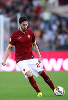 Calcio, Serie A: Roma vs ChievoVerona. Roma, stadio Olimpico, 18 ottobre 2014.<br /> Roma's Davide Astori in action during the Italian Serie A football match between Roma and ChievoVerona at Rome's Olympic stadium, 18 October 2014.<br /> UPDATE IMAGES PRESS/Isabella Bonotto