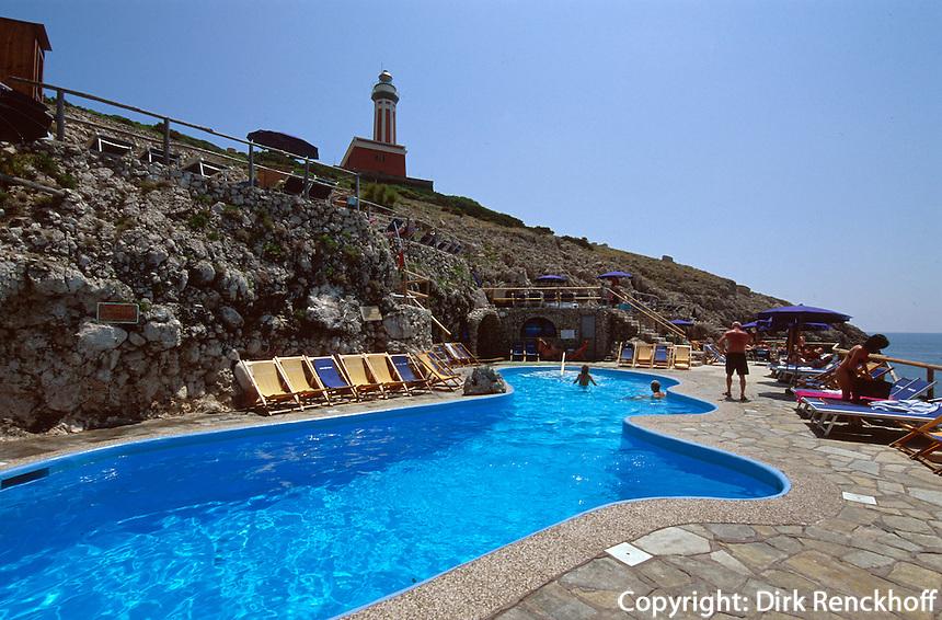 Italien, Capri, Pool bei Punta Carena