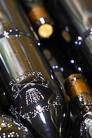 bottle with moulded relief on the neck domaine giraud chateauneuf du pape rhone france